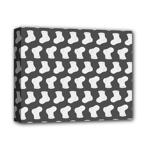 Cute Baby Socks Illustration Pattern Deluxe Canvas 14  X 11