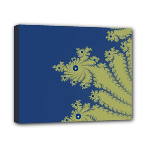 Blue And Green Design Canvas 10  X 8  by theunrulyartist