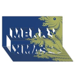 Blue And Green Design Merry Xmas 3d Greeting Card (8x4)  by theunrulyartist