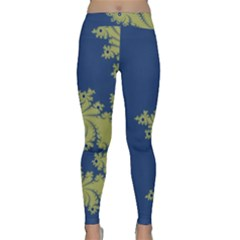 Blue And Green Design Yoga Leggings by theunrulyartist