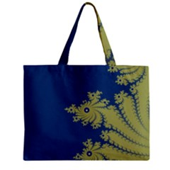 Blue and Green Design Zipper Tiny Tote Bags by theunrulyartist