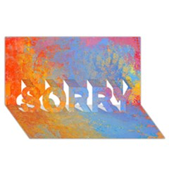 Hot And Cold Sorry 3d Greeting Card (8x4)  by theunrulyartist