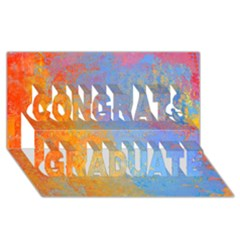 Hot And Cold Congrats Graduate 3d Greeting Card (8x4)  by theunrulyartist