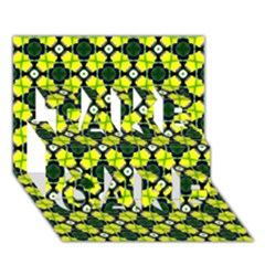 Cute Pattern Gifts TAKE CARE 3D Greeting Card (7x5)