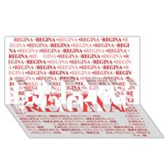 Regina Party 3d Greeting Card (8x4)