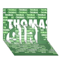 Thomas Girl 3d Greeting Card (7x5)  by MoreColorsinLife