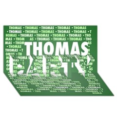 Thomas Party 3d Greeting Card (8x4)  by MoreColorsinLife