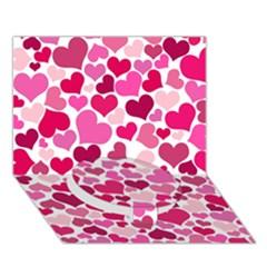 Heart 2014 0933 Circle Bottom 3d Greeting Card (7x5)