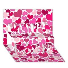 Heart 2014 0933 You Rock 3d Greeting Card (7x5)