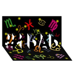 All Floating Zodiac Signs #1 Dad 3d Greeting Card (8x4)  by theimagezone