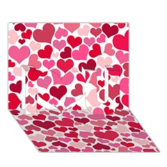 Heart 2014 0934 I Love You 3D Greeting Card (7x5)  by JAMFoto