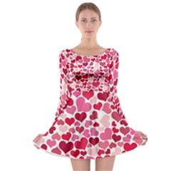 Heart 2014 0934 Long Sleeve Skater Dress