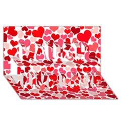 Heart 2014 0937 Laugh Live Love 3d Greeting Card (8x4)  by JAMFoto