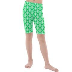 Awesome Retro Pattern Green Kid s Swimwear by ImpressiveMoments