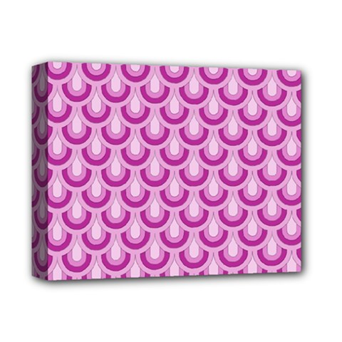 Awesome Retro Pattern Lilac Deluxe Canvas 14  X 11  by ImpressiveMoments