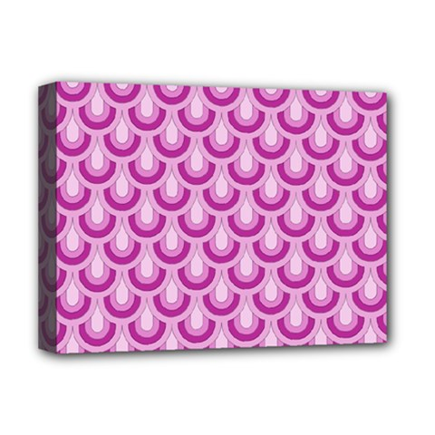 Awesome Retro Pattern Lilac Deluxe Canvas 16  X 12   by ImpressiveMoments