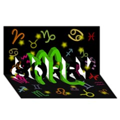 Scorpio Floating Zodiac Sign SORRY 3D Greeting Card (8x4)  by theimagezone