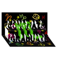 Scorpio Floating Zodiac Sign Congrats Graduate 3d Greeting Card (8x4)  by theimagezone