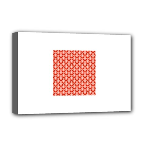 Awesome Retro Pattern Red Deluxe Canvas 18  X 12   by ImpressiveMoments