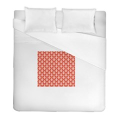 Awesome Retro Pattern Red Duvet Cover Single Side (Twin Size) by ImpressiveMoments