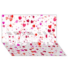 Heart 2014 0601 Best Sis 3d Greeting Card (8x4)