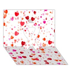 Heart 2014 0602 Ribbon 3d Greeting Card (7x5)  by JAMFoto