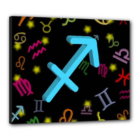 Sagittarius Floating Zodiac Sign Canvas 24  X 20  by theimagezone