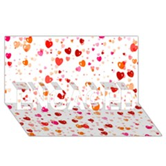 Heart 2014 0603 ENGAGED 3D Greeting Card (8x4)