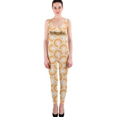 Retro Mirror Pattern Peach Onepiece Catsuits by ImpressiveMoments
