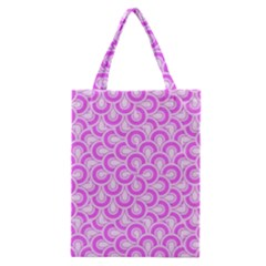 Retro Mirror Pattern Pink Classic Tote Bags by ImpressiveMoments