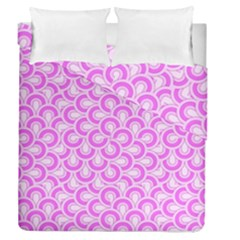 Retro Mirror Pattern Pink Duvet Cover (full/queen Size) by ImpressiveMoments