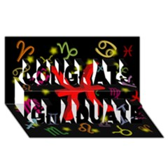 Pisces Floating Zodiac Sign Congrats Graduate 3d Greeting Card (8x4)  by theimagezone