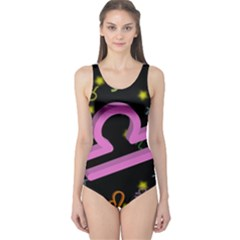 Libra Floating Zodiac Sign Women s One Piece Swimsuits by theimagezone