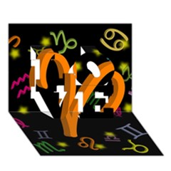 Aries Floating Zodiac Sign Love 3d Greeting Card (7x5)  by theimagezone