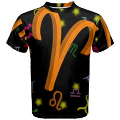 Aries Floating Zodiac Sign Men s Cotton Tees