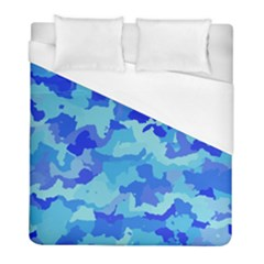 Camouflage Blue Duvet Cover Single Side (twin Size) by MoreColorsinLife