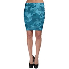 Camouflage Teal Bodycon Skirts by MoreColorsinLife