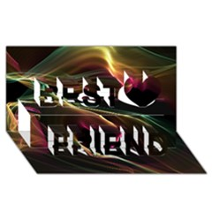 Glowing, Colorful  Abstract Lines Best Friends 3d Greeting Card (8x4)  by FantasyWorld7