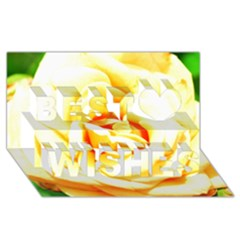 Orange Yellow Rose Best Wish 3d Greeting Card (8x4)  by timelessartoncanvas