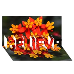 Orange And Red Weed Believe 3d Greeting Card (8x4)  by timelessartoncanvas