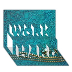 Wonderful Decorative Design With Floral Elements Work Hard 3d Greeting Card (7x5)