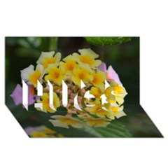 Colorful Flowers Hugs 3d Greeting Card (8x4)