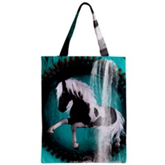 Beautiful Horse With Water Splash  Zipper Classic Tote Bags by FantasyWorld7