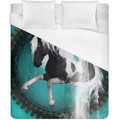 Beautiful Horse With Water Splash  Duvet Cover Single Side (double Size) by FantasyWorld7