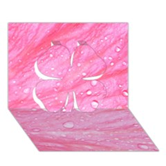 Pink Clover 3d Greeting Card (7x5)  by timelessartoncanvas