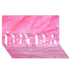 Pink Best Bro 3d Greeting Card (8x4)  by timelessartoncanvas