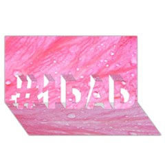Pink #1 Dad 3d Greeting Card (8x4)  by timelessartoncanvas
