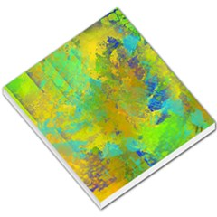 Abstract In Blue, Green, Copper, And Gold Small Memo Pads by theunrulyartist