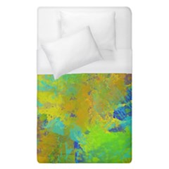 Abstract in Blue, Green, Copper, and Gold Duvet Cover Single Side (Single Size)