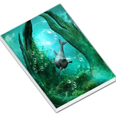 Wonderful Dolphin Large Memo Pads by FantasyWorld7